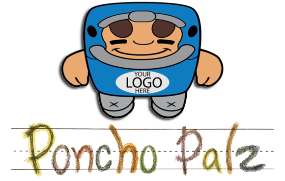 PonchoPalz Character with Logo